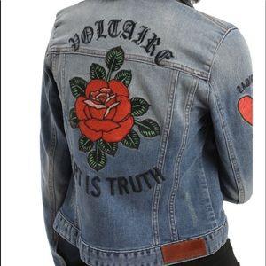 """ZADIG & VOLTAIRE """"ART IS TRUTH"""" denim jacket"""